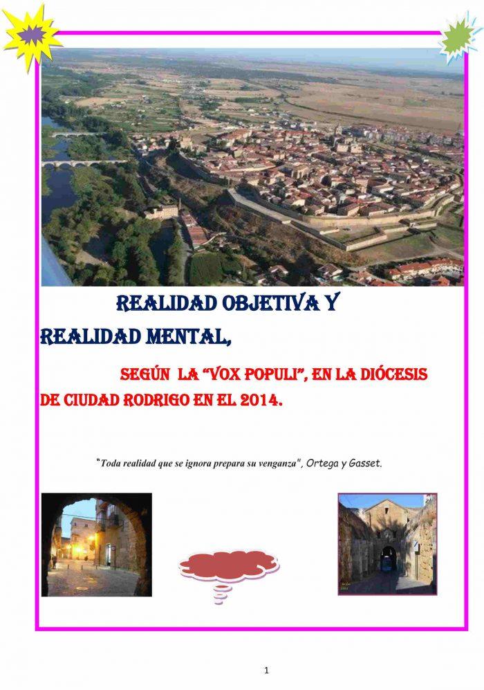 Realidad objetiva y realidad mental en la diócesis de Ciudad Rodrigo