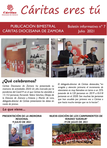 Boletín Cáritas Diocesana de Zamora nº7